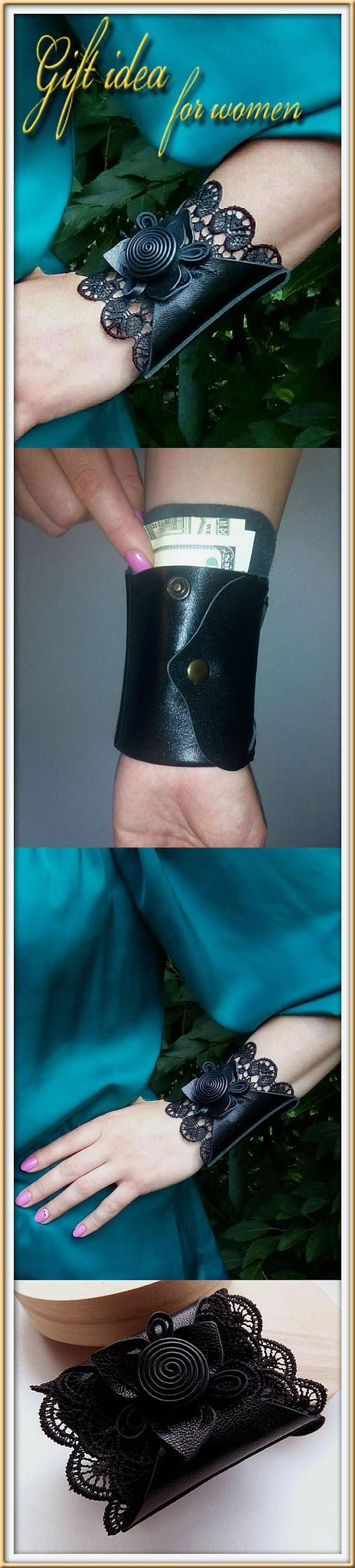 Leather Wrist wallet Holiday gift for her, Travel wallet, Holiday gift for Sale Blak friday