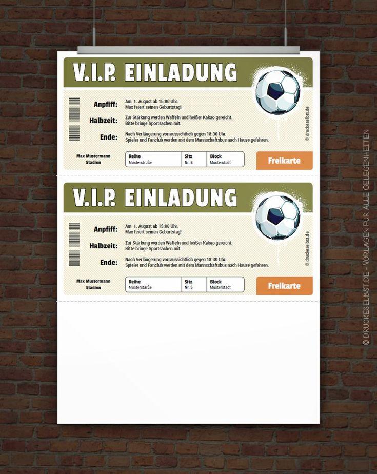 Kostenloses VIP Fussball-Ticket zum Selbstausdrucken
