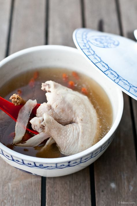 Double-Boiled Herbal Chicken Soup