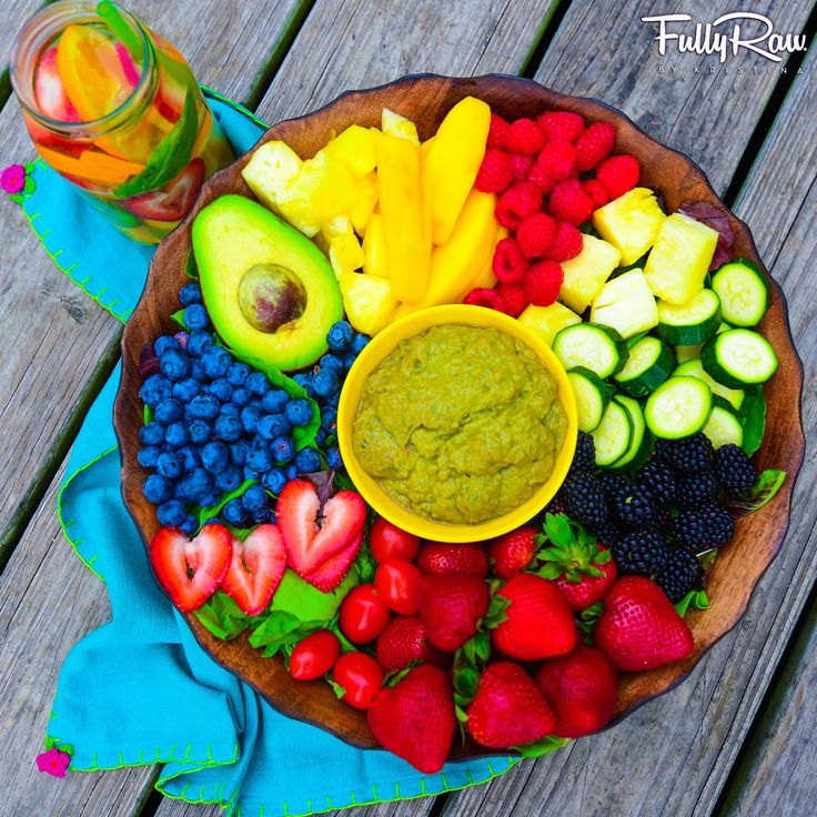 """Dinner tonight: a FullyRaw Rainbow Salad with a side of guacamole!  Let your eating be fun and easy. It doesn't have to be complicated or """"hard"""" to do. Enjoy it! Fall in love with the process, and the results will come. ✨"""