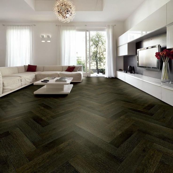 Dark Stained Oak Floors: Tuscan Oak Smoked & Black Stained Engineered Parquet Wood