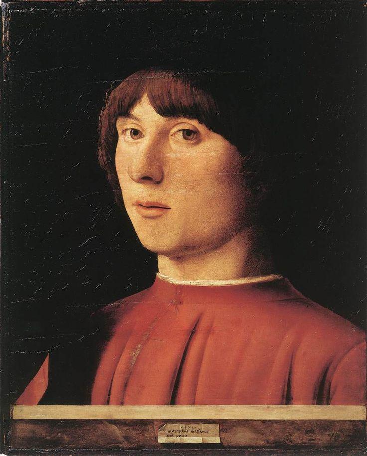 Antonello da Messina (ca. 1430–1479). Portrait of a Man 1474 Oil on wood, 32 x 26 cm Staatliche Museen, Berlin