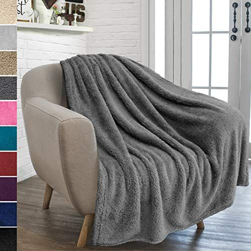 Pavilia Plush Sherpa Throw Blanket For Couch Sofa Fluffy Microfiber Fleece Throw Soft Fuzzy Cozy Lightwe Fluffy Blankets Turquoise Blanket Throw Blanket
