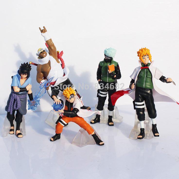 J.g чен аниме наруто саске Kakashi минато Namikaze 12 см пвх рисунок модель игрушка 5 шт. / комплект