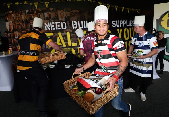 Augustine Pulu Photos Photos - Augustine Pulu of Counties Manukau collects ingredients for the BBQ challenge during the ITM Cup season launch at Western Springs Stadium on August 5, 2014 in Auckland, New Zealand. - ITM Cup Season Launch