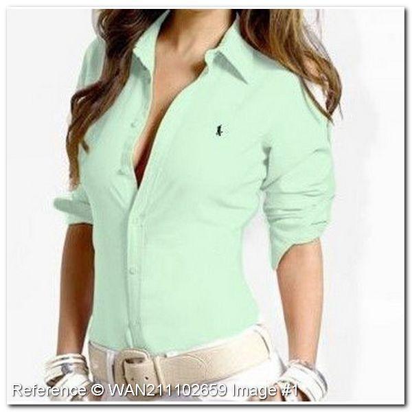 Resultado de imagen para camiseta polo verde para mujer