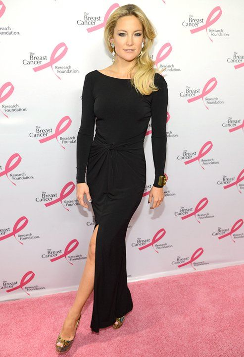 Gorgeous Kate Hudson at 2013 Breast Cancer FoundationHot Pink Party - Red Carpet in all black gown