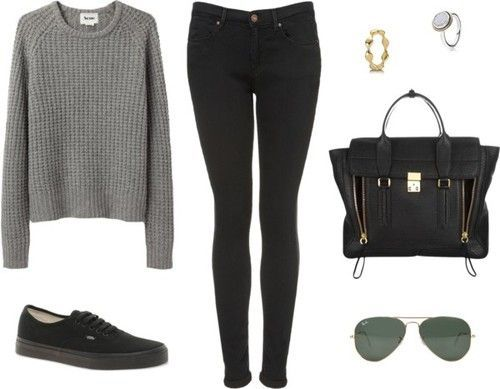 outfits with black vans - Buscar con Google