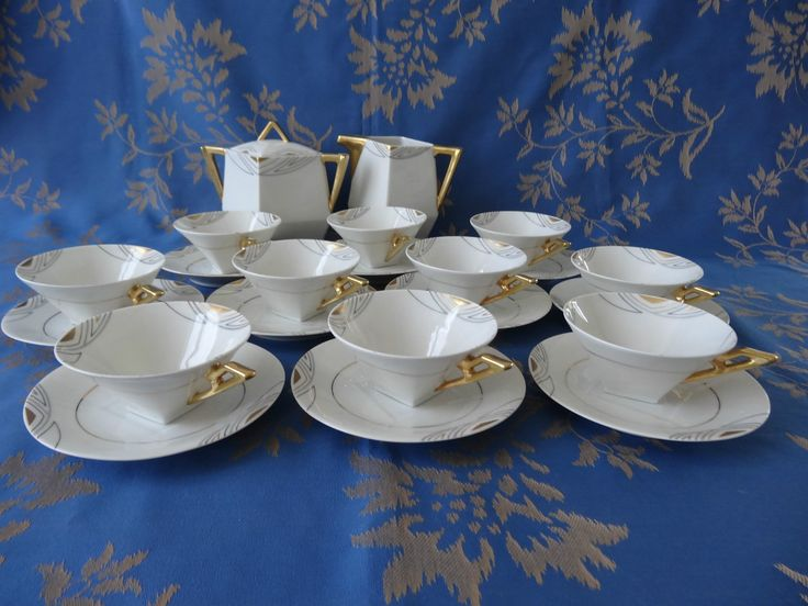 porcelaine de limoges malaveix granger 1914 1920 service art deco ebay art deco limoges. Black Bedroom Furniture Sets. Home Design Ideas