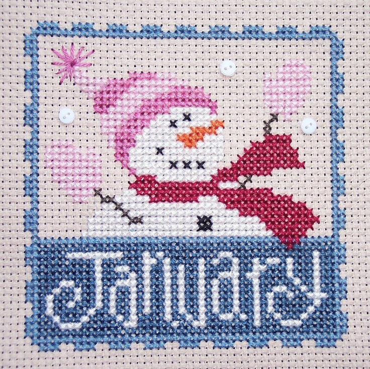 Cross stitch for each month-Lizzie Kate Flip it stamp charts