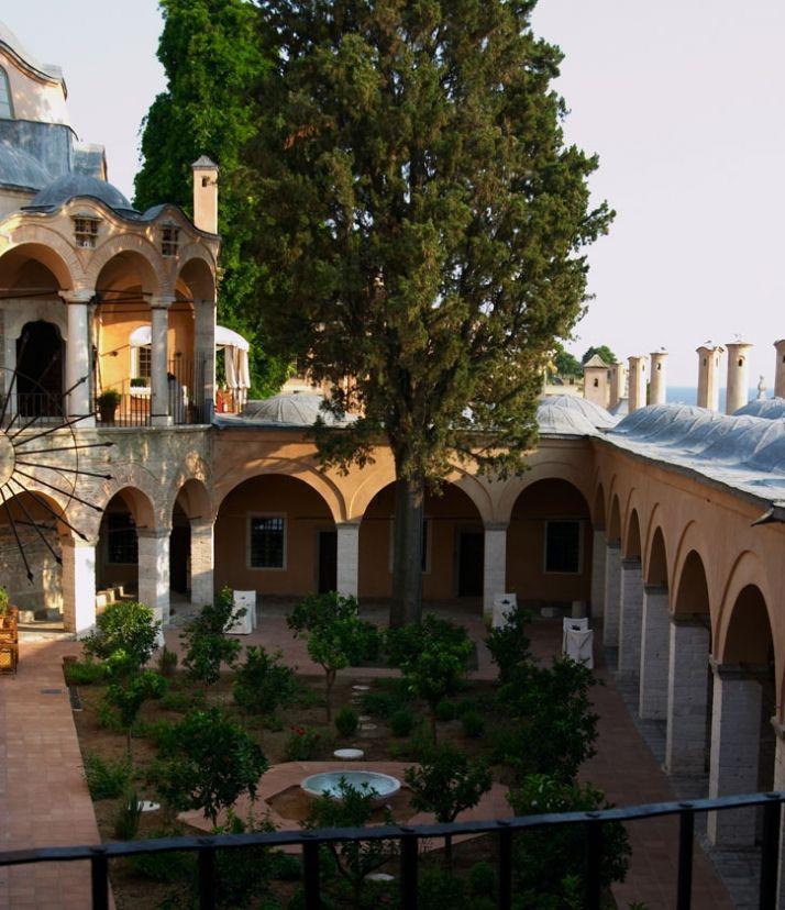 imaret hotel in kavala, courtyard