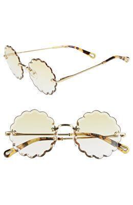 587c8e25d008 CHLOÉ Designer Rosie 53mm Scalloped Sunglasses