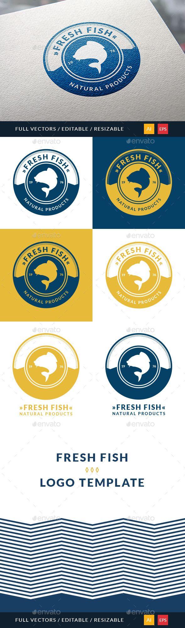Fresh Fish Logo — Vector EPS #shark #sailfish • Available here → https://graphicriver.net/item/fresh-fish-logo/10484027?ref=pxcr
