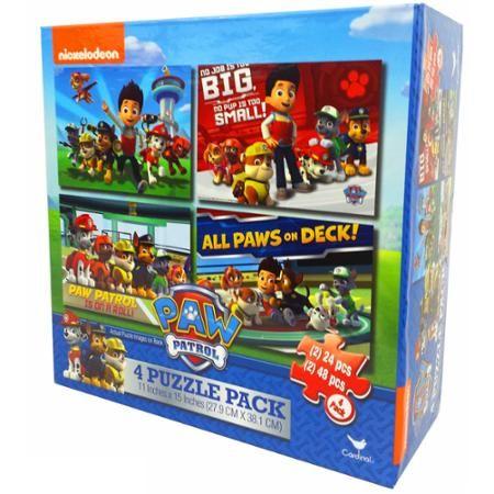 Nickelodeon Paw Patrol 4 Basic Puzzle Box With Rope Handle - Walmart.com