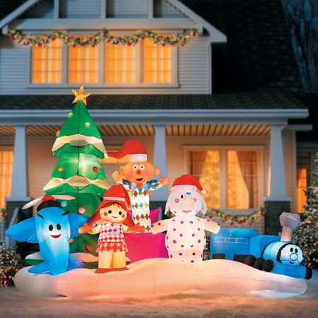 Rudolph's Island of Misfit Toys Christmas Inflatable