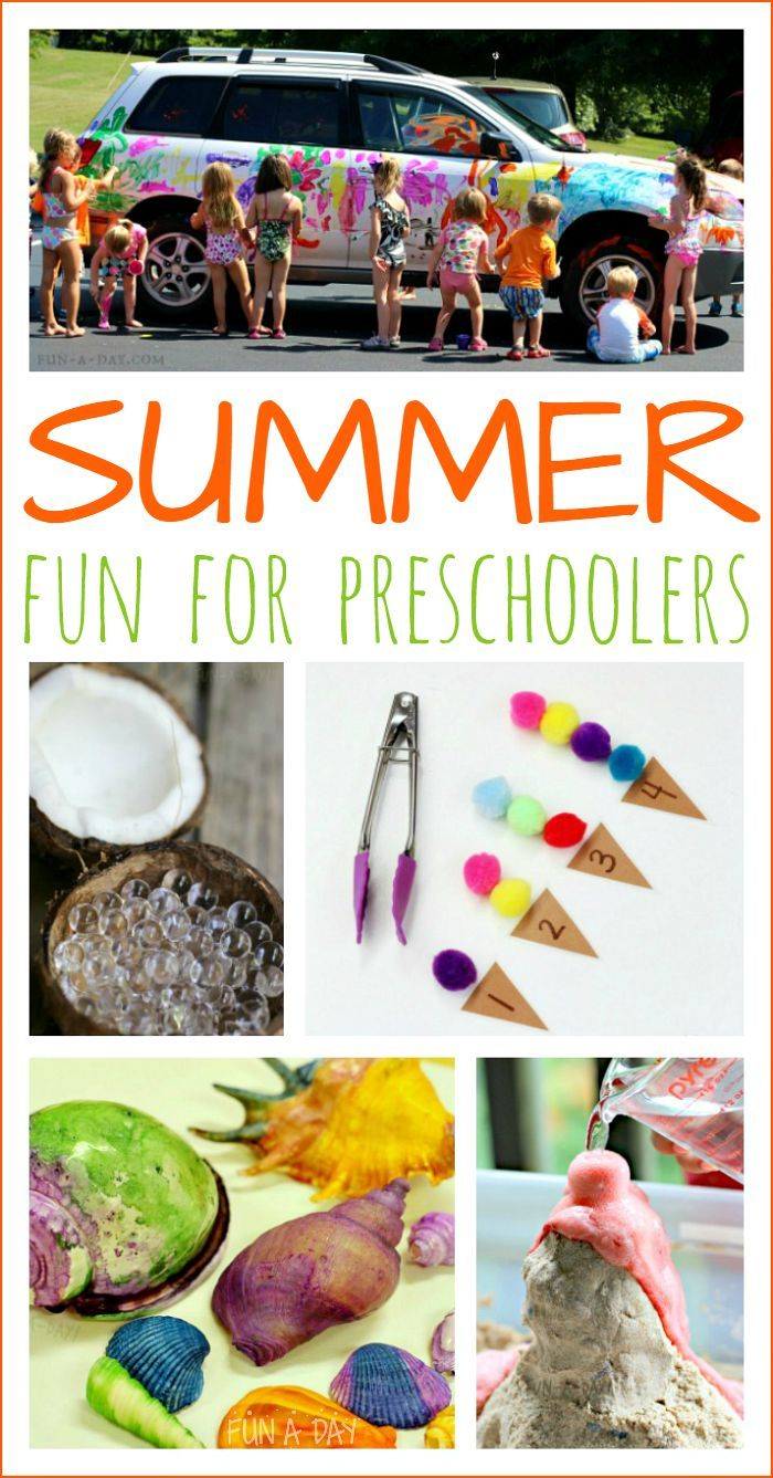 20+ summer activities for preschoolers (and older kids, too)! Sensory play, arts and crafts, science, and more. Perfect for planning summer camps, summer play dates, or just some family fun.