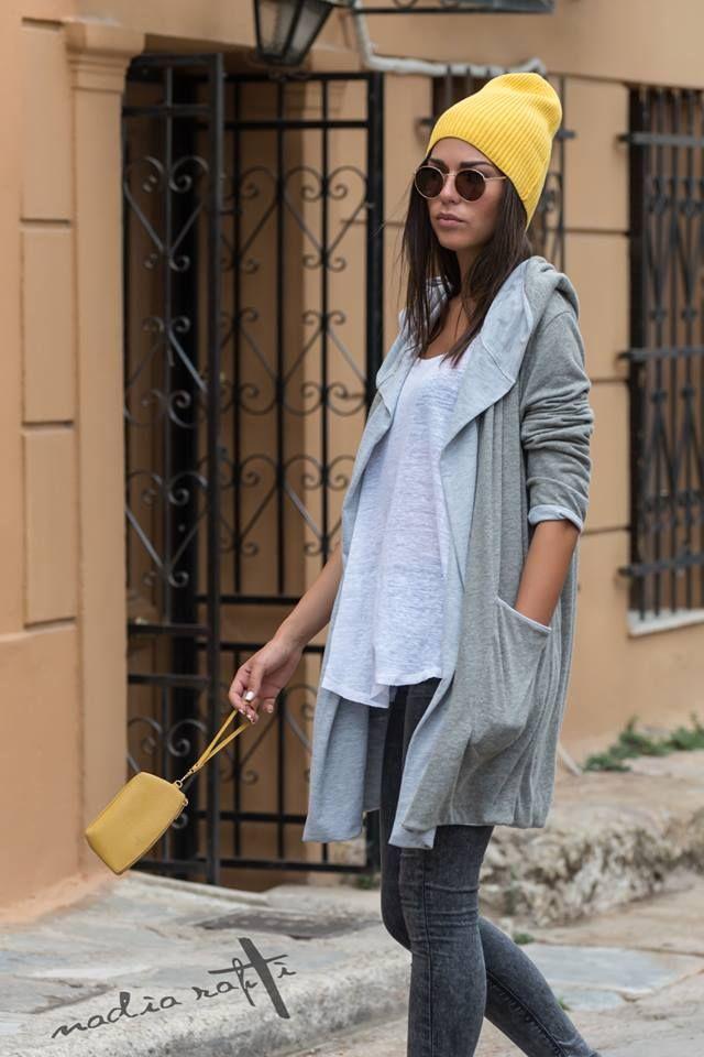 Nadia Rapti Grey Cotton Cardigan _ Fashionnoiz.com #fashionnoiz
