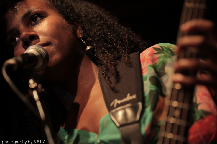 British-Congolese Binisa Bonner performing with Ruby and the Vines, by Bela Molnar