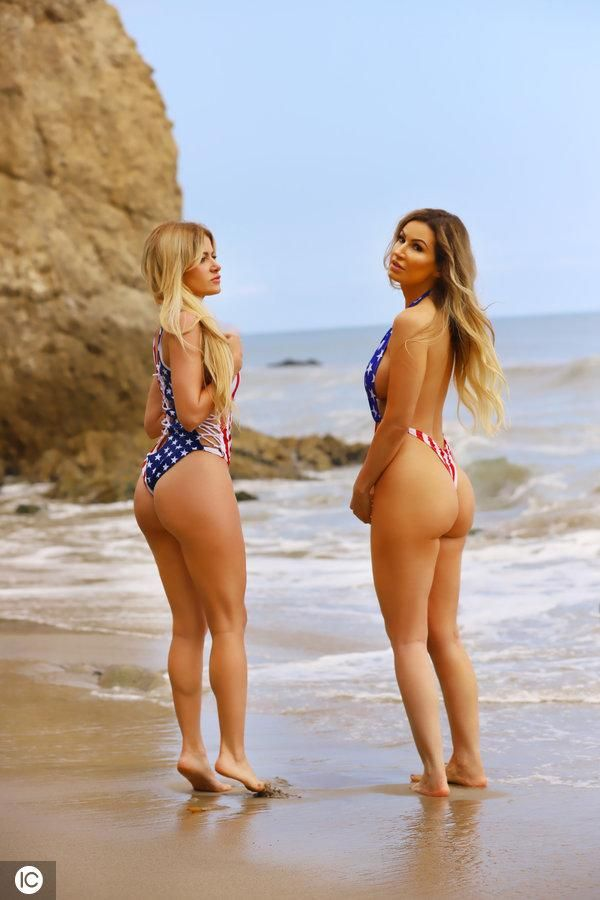 Brazilian Playmate Ana Braga And Italian Model Simona Papadopoulos