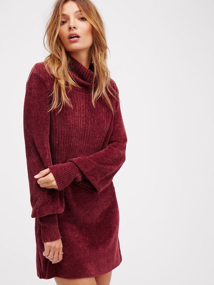 The Model wears New Moon Chenille Tunic Sweater for 2016 lookbook