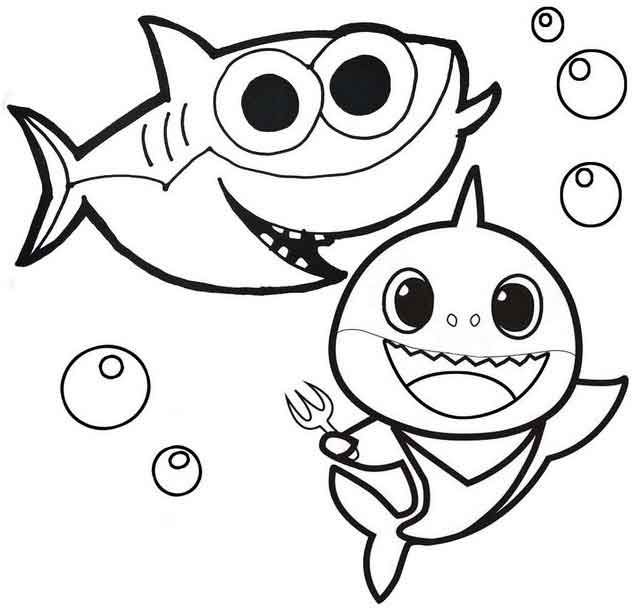 Amazing Baby Shark Coloring Pages In 2020 Shark Coloring Pages Baby Coloring Pages Baby Shark