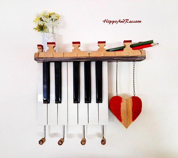 Piano key keyholder Piano key holder Mail and key holder