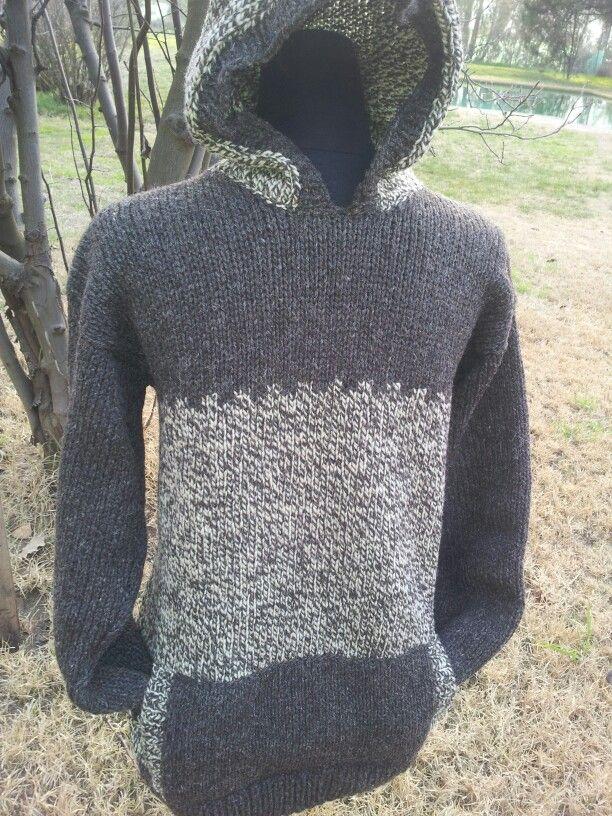 Hermoso chaleco tejido con lana de ovejas. Para hombre o mujer. Lanas chiloé.