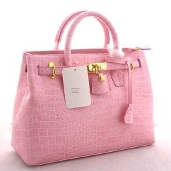 Hermes birkin bag in pink