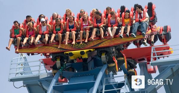 This Crazy Roller Coaster Will Scare The Sh*t Out Of You | 9GAG.tv