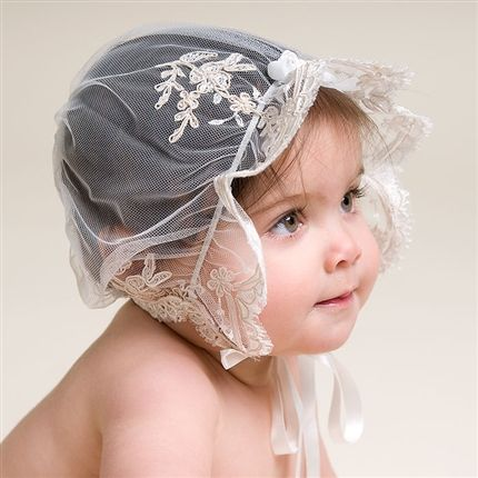 Kristina Christening Bonnet(Girl) | Heirloom Baptism Clothes & Dresses - Fancy Gowns & Dresses