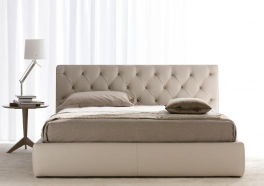 """Tribeca"" upholstered bed by Berto Salotti (Meda, Italy). 100% hand made in Brianza, by Italian Master Artisans."