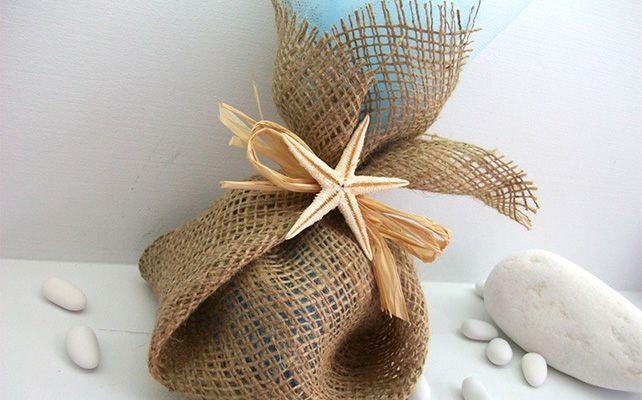 Подарки для гостей из мешковины