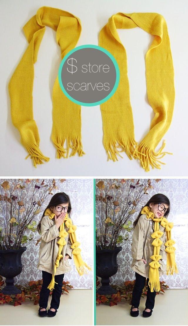 шарфик  с бантами