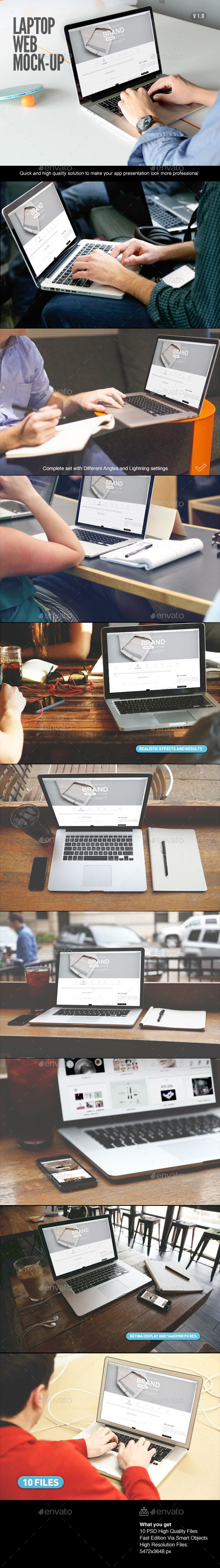 Laptop | Web App Mock-Up  #responsive #responsive screen #retina display #screens #showcase mockup #$9
