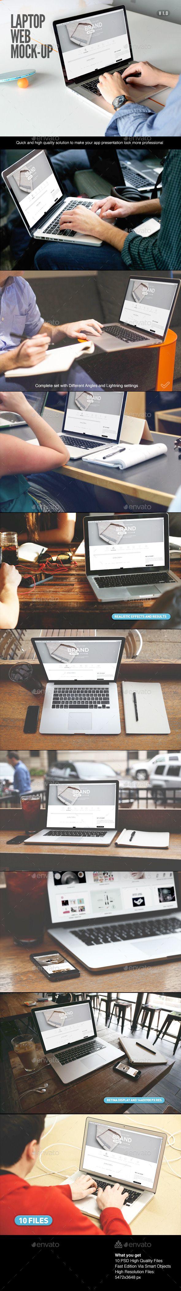 Laptop | Web App Mock-Up #design Download: http://graphicriver.net/item/laptop-web-app-mockup/10897896?ref=ksioks