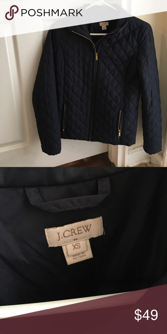 J crew jacket J crew navy quilted light jacket. Worn a few times and in excellent condition J. Crew Jackets & Coats