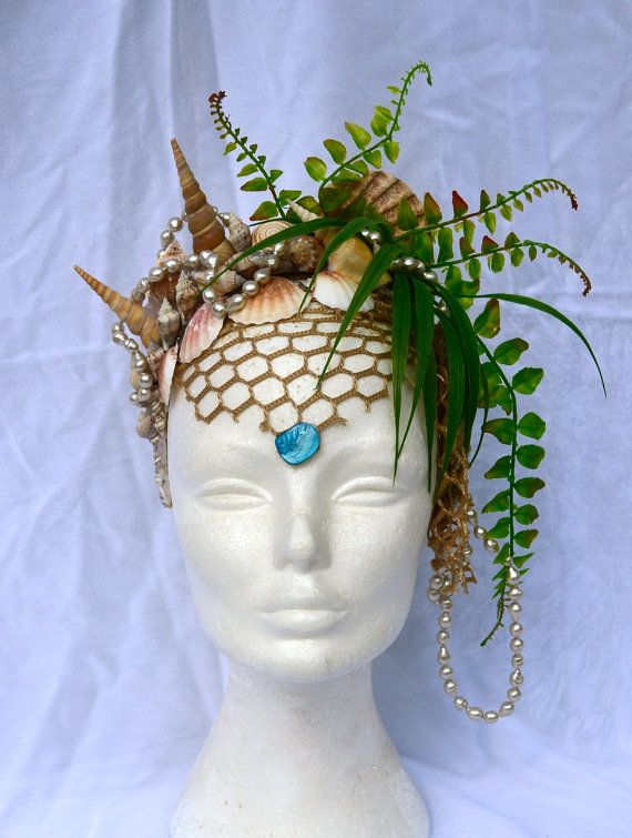 Headdress Of The Ocean Goddess, Mermaid Queen, Mermaid Crown, Finnish Design