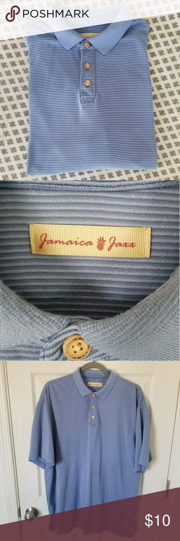❄SALE❄Jamaica Jaxx Microstripe Polo Golf Shirt Blue color - Good used condition (slight bit of pilling on collar, as pictured). Lots of life left! Jamaica Jaxx Shirts Polos