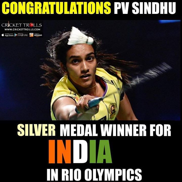 #RioOlympics #Rio2016 #Badminton #PVSindhu  Congratulations ! P V Sindhu for making INDIA proud once again - http://ift.tt/1ZZ3e4d