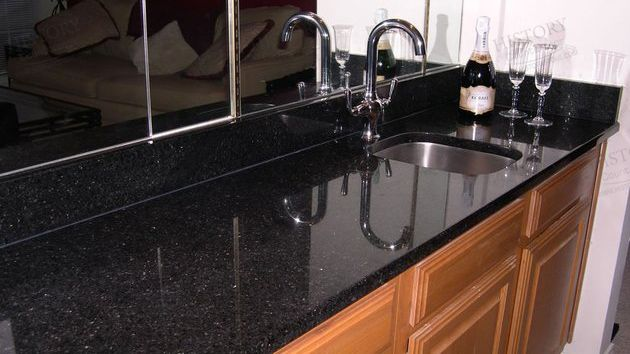 Best India Galaxy Black Granite Vanity Countertops In