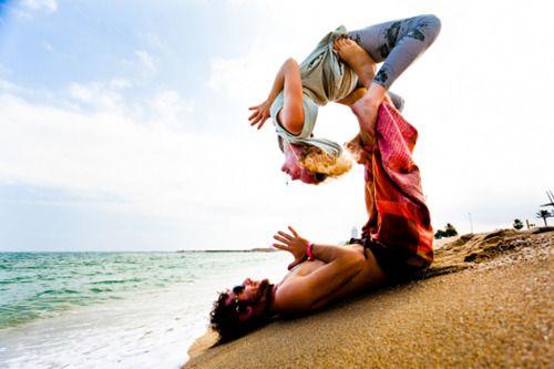 Enjoy these gorgeous pictures of AcroYogis from around the world by photographer Kadri Kurgun. #yoga #Barcelona #SpainAcroyoga, Gorgeous Pictures, At The Beach, Couple Yoga, Acro Yoga, Couples Yoga Poses, Partner Yoga, Barcelona Spain, Yoga Journals