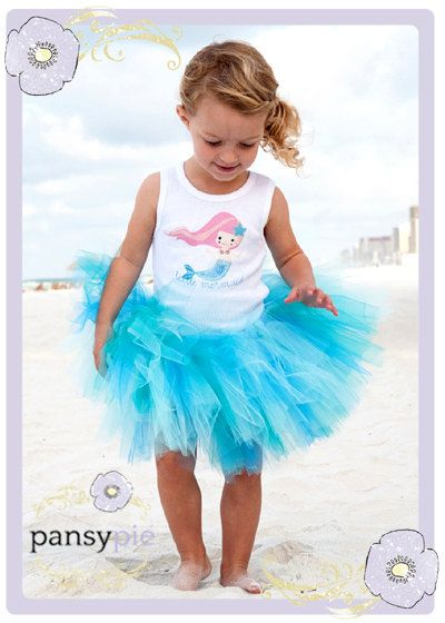 Little Mermaid Tutu Dress Toddler Tank Top by PansyPieBoutique, $36.99