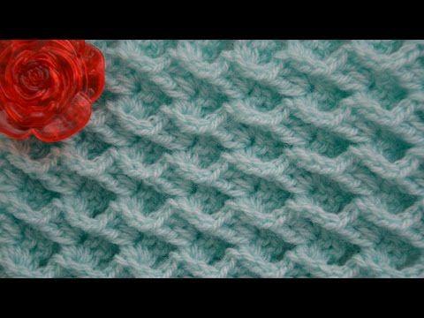 Узор Волны океана. Ocean waves stitch pattern - YouTube