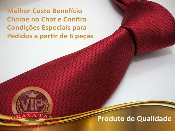 Gravata Vermelha Slim 1200fios