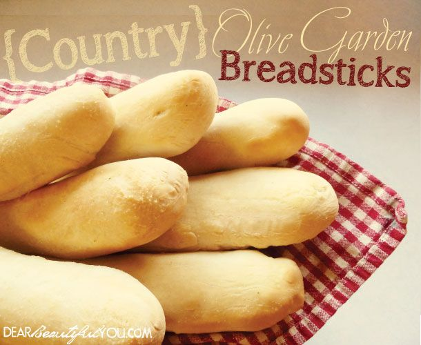 Olive Garden Breadsticks! These taste just like the real thing! Must try! www.dearbeautifulyou.com