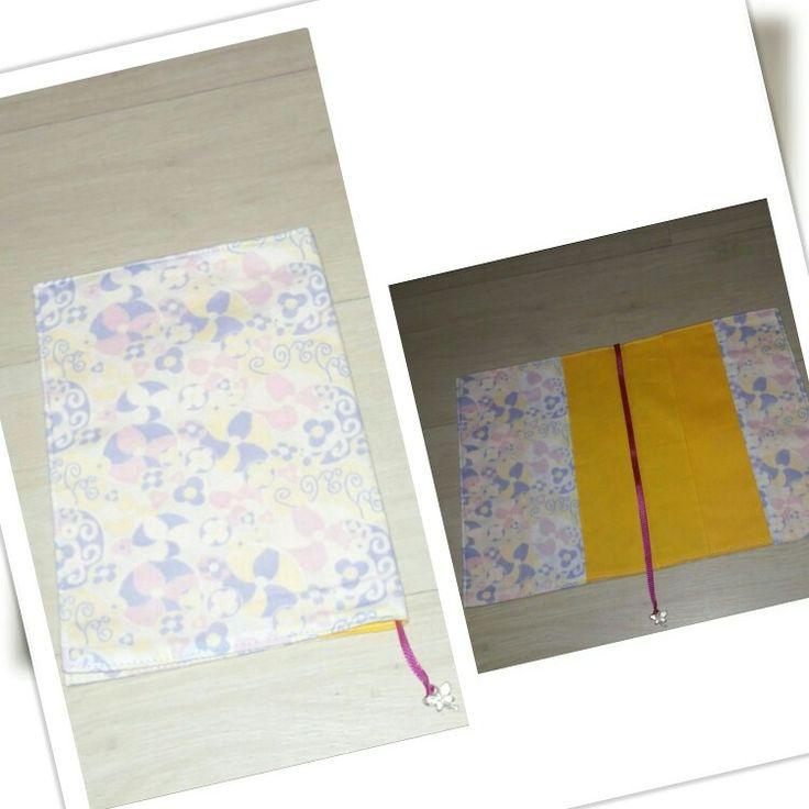 Capa de livro, agenda ou caderno em tecido.