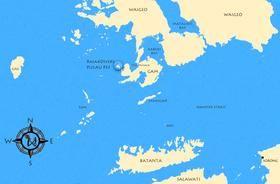 raja ampat map, dive resort raja ampat, indonesia
