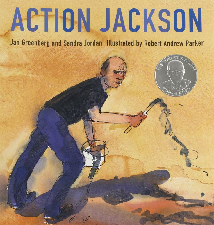 Read the children's book Action Jackson by Jan Greenberg to inspire your kids to get creative with paint like Jackson Pollock! Get messy with process art!