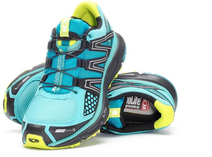 At REI Outlet: Women's Salomon XR Mission CS Trail-Running Shoes. Waterproof in the front, breathable in the back. Smart!