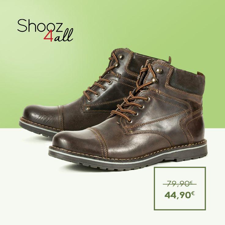 Ποιοτικά ανδρικά παπούτσια σε πραγματικά προσιτές τιμές. Καφέ μποτάκια ανδρικά από γνήσιο δέρμα, με επένδυση από ύφασμα εσωτερικά, δετά για άψογη εφαρμογή.  http://www.shooz4all.com/el/andrika-papoutsia/dermatina-mpotakia-se-kafe-xroma-mh085h01-detail #shooz4all #dermatina #andrika